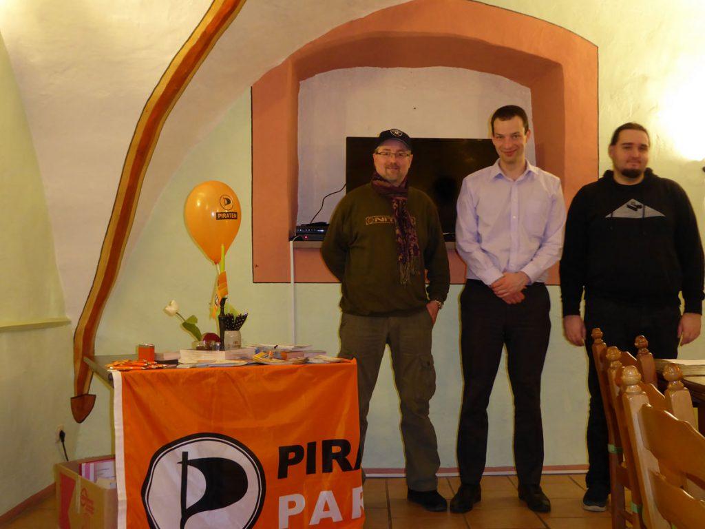 Vorstand des Kreisvorstandes Schmalkalden-Meiningen: Jan Schrenke, Christian Horn, Marius Wegner