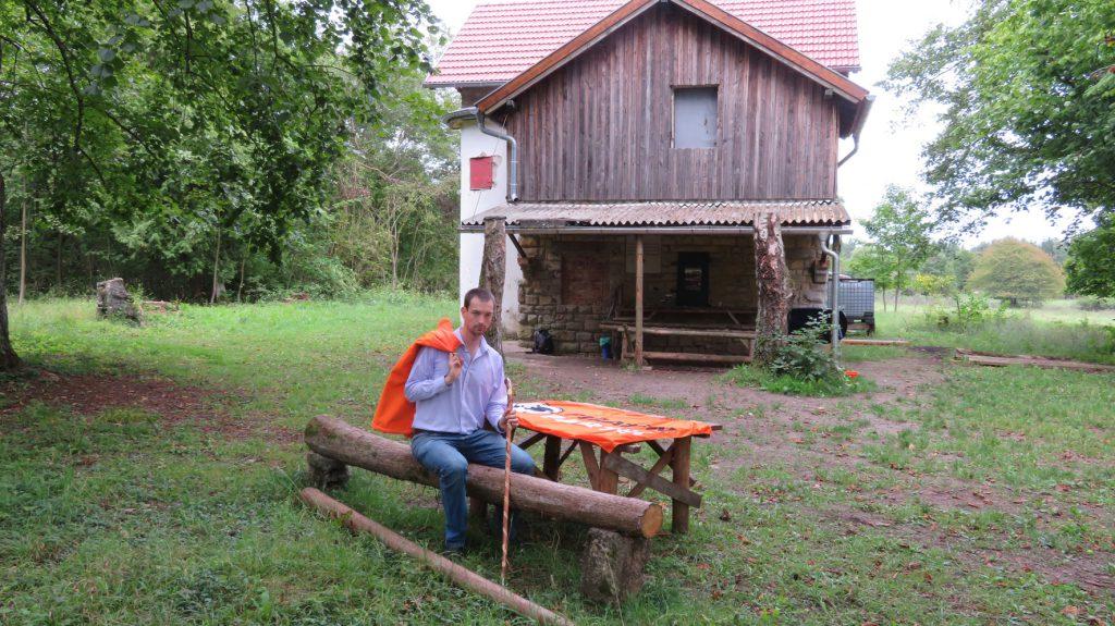 Christian Horn vor der Bakuninhütte